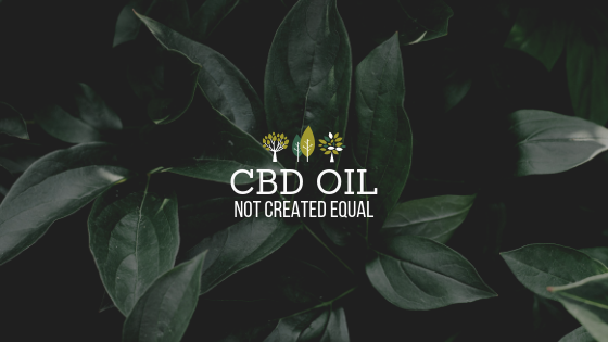 CBD OIL-NOT CREATED EQUAL