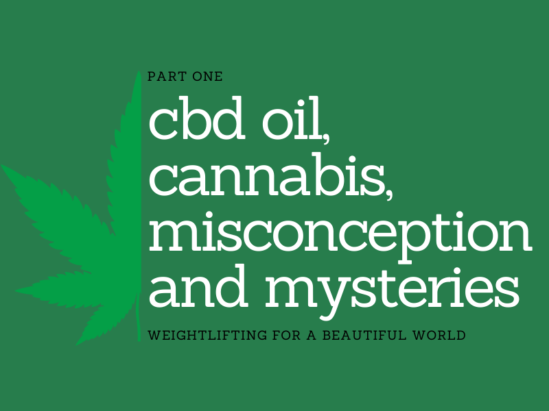 CBD OIL, CANNABIS,  MISCONCEPTION AND MYSTERIES-PART 1