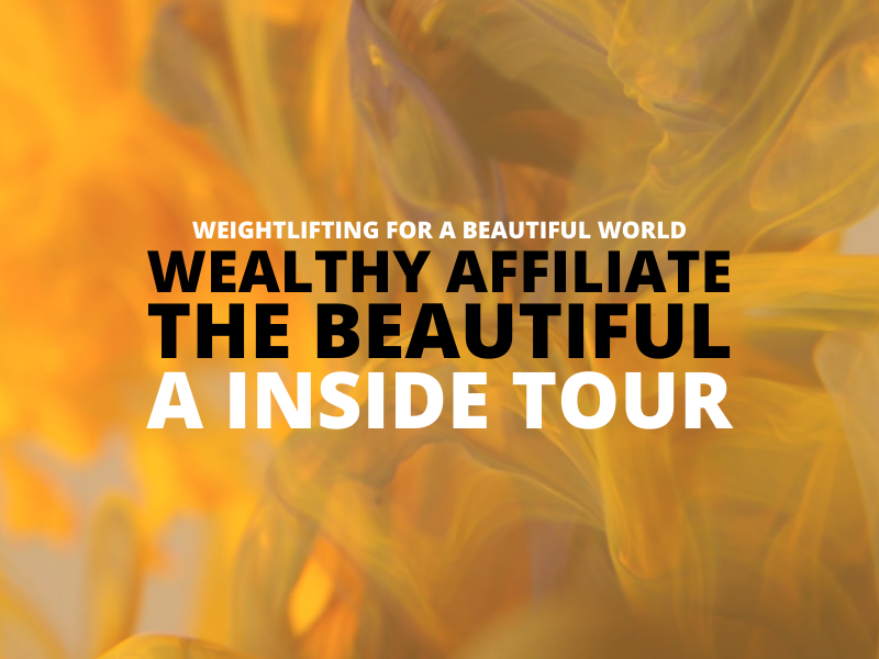 WEALTHY AFFILIATE THE BEAUTIFUL – A INSIDE TOUR
