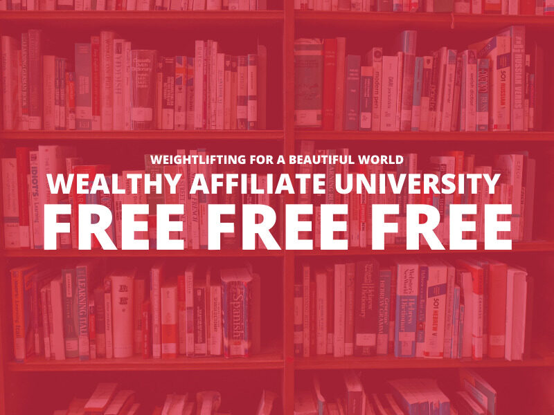 WEALTHY AFFILIATE UNIVERSITY FREE FREE FREE
